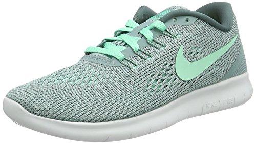 Nike Mädchen Free RN Laufschuhe, Grau (Cannon/Hasta/Off Weiß/Grünes Glühen), 35.5 EU