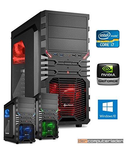 Gamer PC System Intel, i7-6700K 4x4,0 GHz, 32GB DDR4 RAM, 2000GB HDD, nVidia GTX1080 -8GB, inkl. Windows 10 (inkl. Installation) Gaming Computer Büro Multimedia dercomputerladen