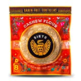 Siete Grain Free Cashew Flour Tortilla, White , 8 Count Pack, 7 oz