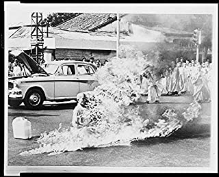 HistoricalFindings Photo: Buddhist Monk,Thich Quang Duc,Burning to Death,Protest,Saigon,1963