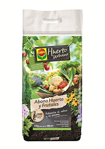 Compo Abono para Plantas Ornamentales, frutales, hortalizas y aromáticas, Apto para Agricultura ecológica, Substrato de Cultivo, 5 kg, 2181202011