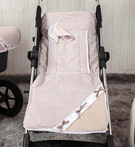 Babyline Bombón - Colchoneta ligera para silla de paseo, color beige