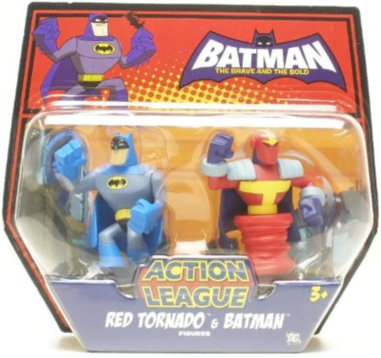 Batman Brave and the Bold Action League Mini Figure 2Pack Red Tornado and Batman