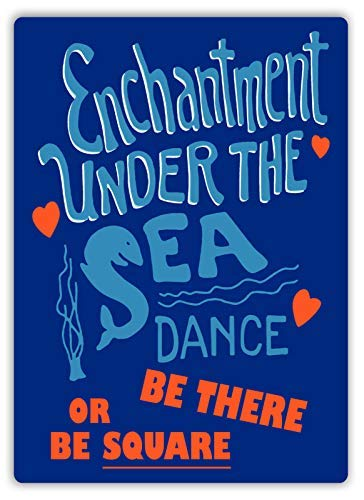 qidushop Enchantment Under The Sea Dance Plakat Art Future Marty Retro Metall Wanddekoration Art Shop Man Cave Bar Garage Aluminium Schild