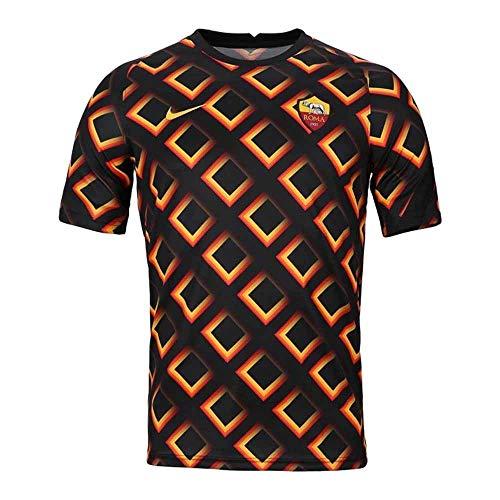 Nike Roma M NK BRT Top SS PM, T-Shirt Uomo, Black/University Gold/(University Gold) (No Sponsor-plyr), M