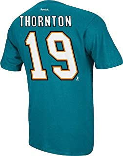 Joe Thornton San Jose Sharks NHL Player Teal T-Shirt Camisa