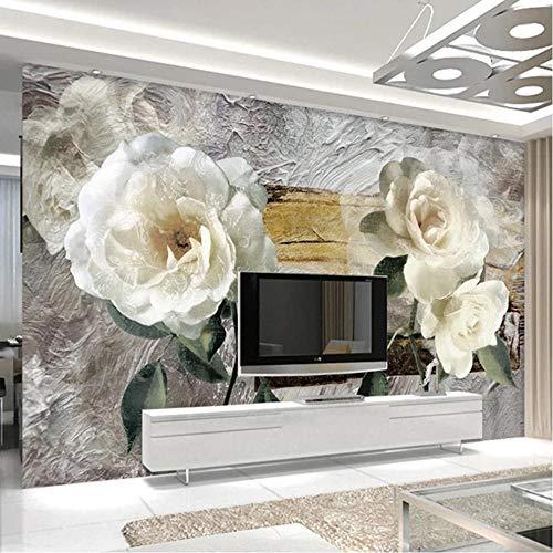 fczka Carta da parati 3D Retro Pittura a olio Bellissimi fiori Murales Soggiorno TV Divano Camera da letto Home Decor Adesivi murali autoadesivi 3D-S