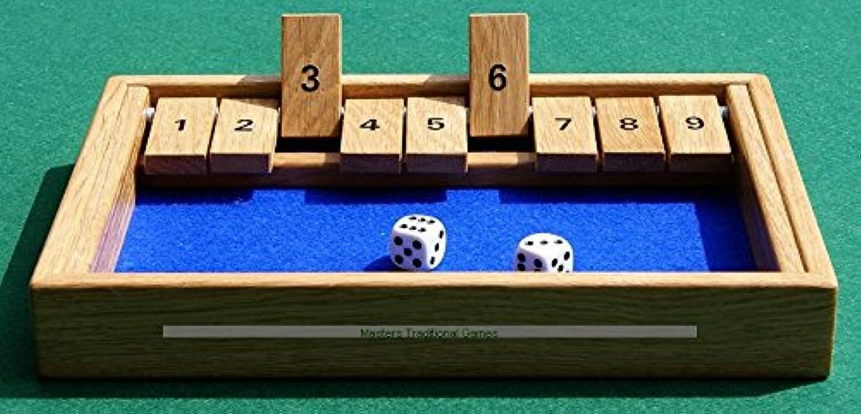 Masters Traditional Games Hand-made Shut the Box - Oak frame and tabs B00HZ3FZD2 Die Farbe ist sehr auffällig | Qualität Produkte