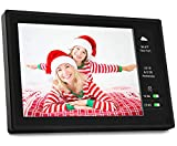 BSIMB 10.1 Inch Digital Picture Frame WiFi Digital Photo Frame 1280x800 IPS Touch Screen/Motion Sensor/16 GB/Send Photos/Video Support iOS/Android App,Email/Facebook/Twitter W09 Plus