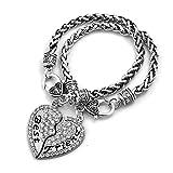 ShinyJewelry Best Friend Love Heart Friendship Bracelet Set for 2