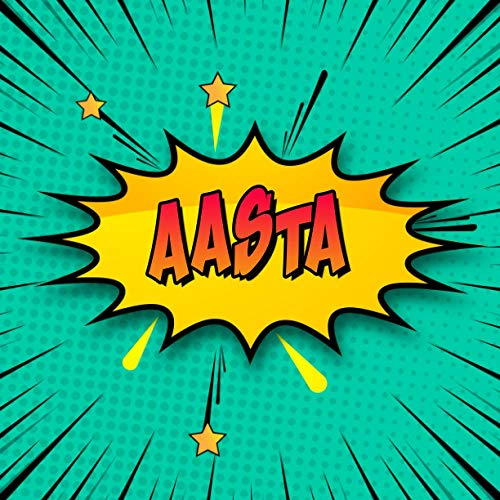 Aasta: Draw Your Own Comic Super Hero Adventures with this Personalized Vintage Theme Birthday Gift Pop Art Blank Comic Storyboard Book for Aasta | 150 pages with variety of templates