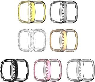 Hemobllo 7St Crystal Rhinestone Case Compatibel För Fitbit Versa 3/ Sens