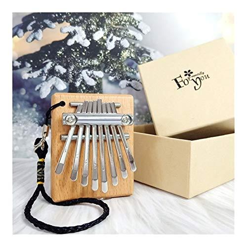 SADDPA Mini 8 Keys Daumenklavier großer Ton Finger Keyboard Musikinstrument Niedlich Zubehör Anhänger-Geschenk for Kinder Freundin (Color : Khaki)