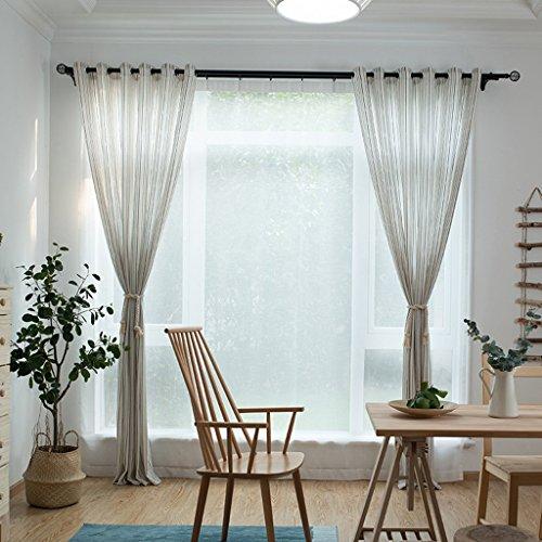 Met Love Polyester Stripe Fil de fenêtre Screening Salon Chambre étude personnalisable fenêtre dépistage 2 panneaux (taille : L:1.5*H:2.7m)