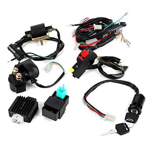 Arnés de cableado Kick Start Kit de motor completo para 110cc 125cc 140cc PIT PRO Trail Dirt Bike Piezas modificadas