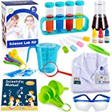 GLOCITI Kids Science Kits with Lab Coat, 60 Fun Science Experiments for Kids, Science Lab Kit Costume Dress Up and Role Playing Games, Explore STEM Educational Learning Science Toys Kids Ages 8+