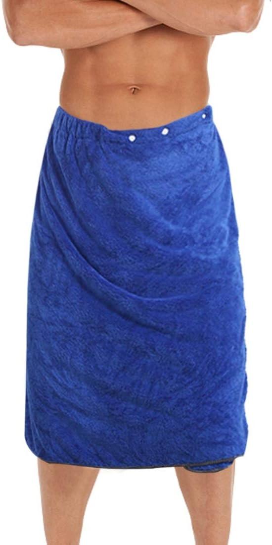 kilofly 1pc Men's Adjustable half Shower Wrap with Cl Inexpensive Snap Bath Towel