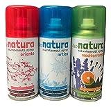Profumo Deodorante Tessuti Abiti Tende DIVANI Speciale LAVANDERIE Tris Deo Natura igiensoft Idea Regalo 150 ml