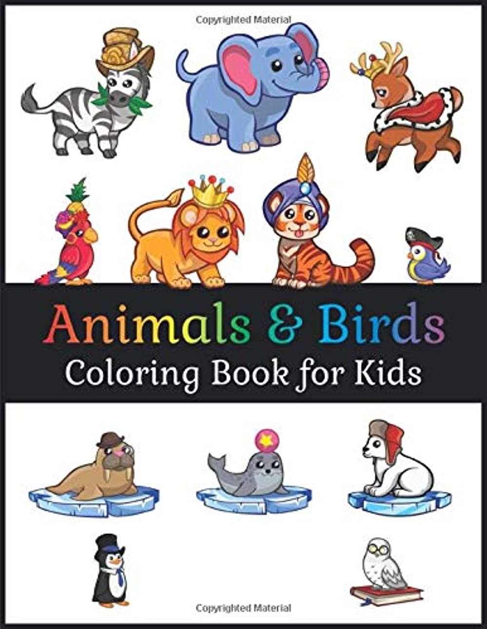 割れ目哀バックグラウンドColoring Book For Kids - Animals & Birds