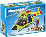 Playmobil Vida en la Montaña - Helicóptero para Rescate en montaña, Juguete Educativo, Multicolor, 35 x 10 x 25 cm,...