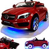 Mercedes-Benz CLA 45 AMG viele LED Effekte Soft Start Kinderauto...