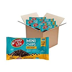 Enjoy Life Semi-Sweet Chocolate Chips, Gluten, Dairy, nut & Soy Free, Mini Chips, 10-Ounce Bags (Pack of 6)