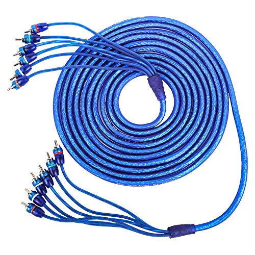 Skar Audio 17-Foot 6-Channel Twisted Pair RCA Interconnect Cable - SKAR6CH-RCA17