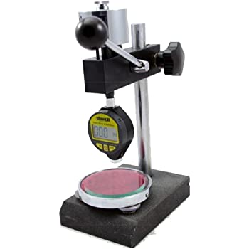 Minimum 0.25 Fit For Forrubbers//Plastics ZHFEISY Digital Shore Hardness Tester Meter with Stand Durometer Tester Hardness Measurement Testing