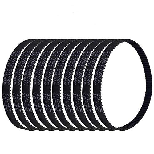 3Dman GT2 Timing Belt Closed Loop Rubber Belt 200mm for Width 6mm for 3D Printer -10pcs