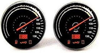 HE PING Race Car Speed Meter CuffLinks, Misuratore di velocità auto personalizzato