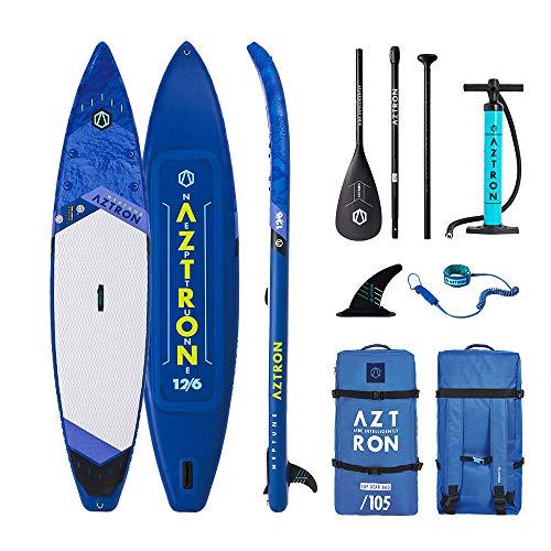 AZTRON Neptune 12.6 Double Sup Stand Up Paddle Board con estilo de aluminio y correa