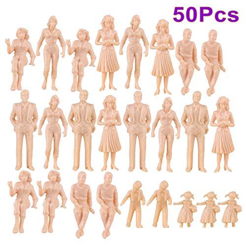 Spieland - Figuren für Modelleisenbahnen in Hautfarbe, Größe ca.4-7cm