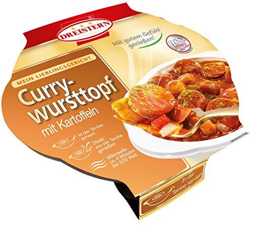 Dreistern Currywurst mit Kartoffeln, 400 g