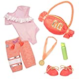 Glitter Girls by Battat – 14-inch Doll Clothes & Accessories - Oohs & Aahs from The Crowd Gymnastics Outfit – Pink Leotard, Gym Bag, Gold Medal – Toys for Kids Ages 3 & Up Brown | GG50100Z 14 inches