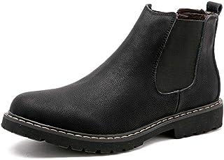 Chaussures décontractées Bottes pour hommes Bottines décontractées pour hommes Bottines de la laine confortable et à la mo...