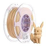 eSUN Filamento PLA Madera 1.75mm, Impresora 3D Filamento PLA Madera, Precisión Dimensional +/- 0.05mm, 0.5KG (1.1 LBS) Carrete para Filamento de Impresión 3D, Color de Madera