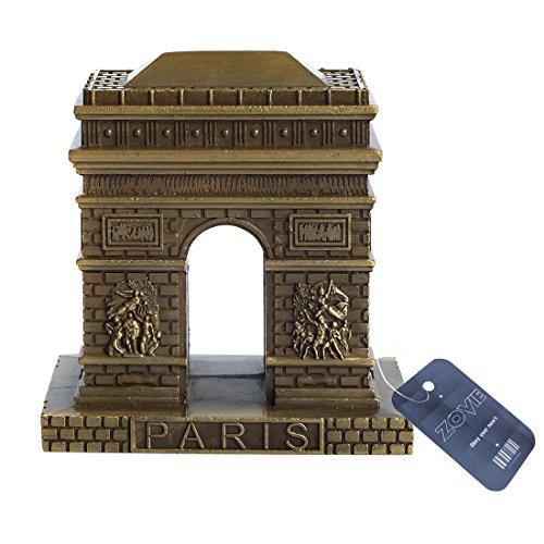 ZOVIE France Paris Triumphal Arch Pure Copper Statue (3.2in Top)