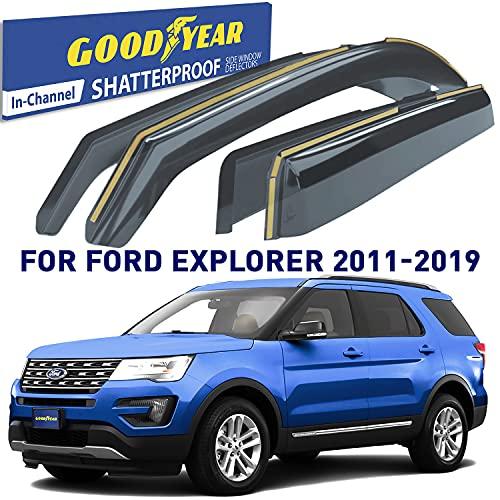 Goodyear Shatterproof in-Channel Window Deflectors for Ford Explorer 2011-2019,...
