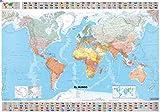Mapa plastificado El Mundo (Mapas en tubo y plastificados Michelin)