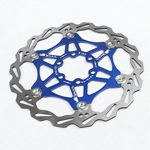 Discos de freno para bicicleta de montaña, tipo disco de freno flotante con tornillos, 160/180/203 mm, para la mayoría de bicicletas (203 mm, azul)