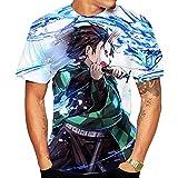 Camisetas,Demon Slayer Anime Camiseta De Manga Corta Estampada para Hombre Cuello Redondo Cómodo Suave Unisex Color 5 Mezcla De Colores 5XL