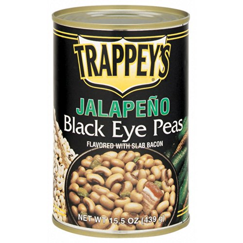 Trappeys Jalapeno Black Eye Peas with Slab Bacon, 15.5 Ounce -- 12 per case.