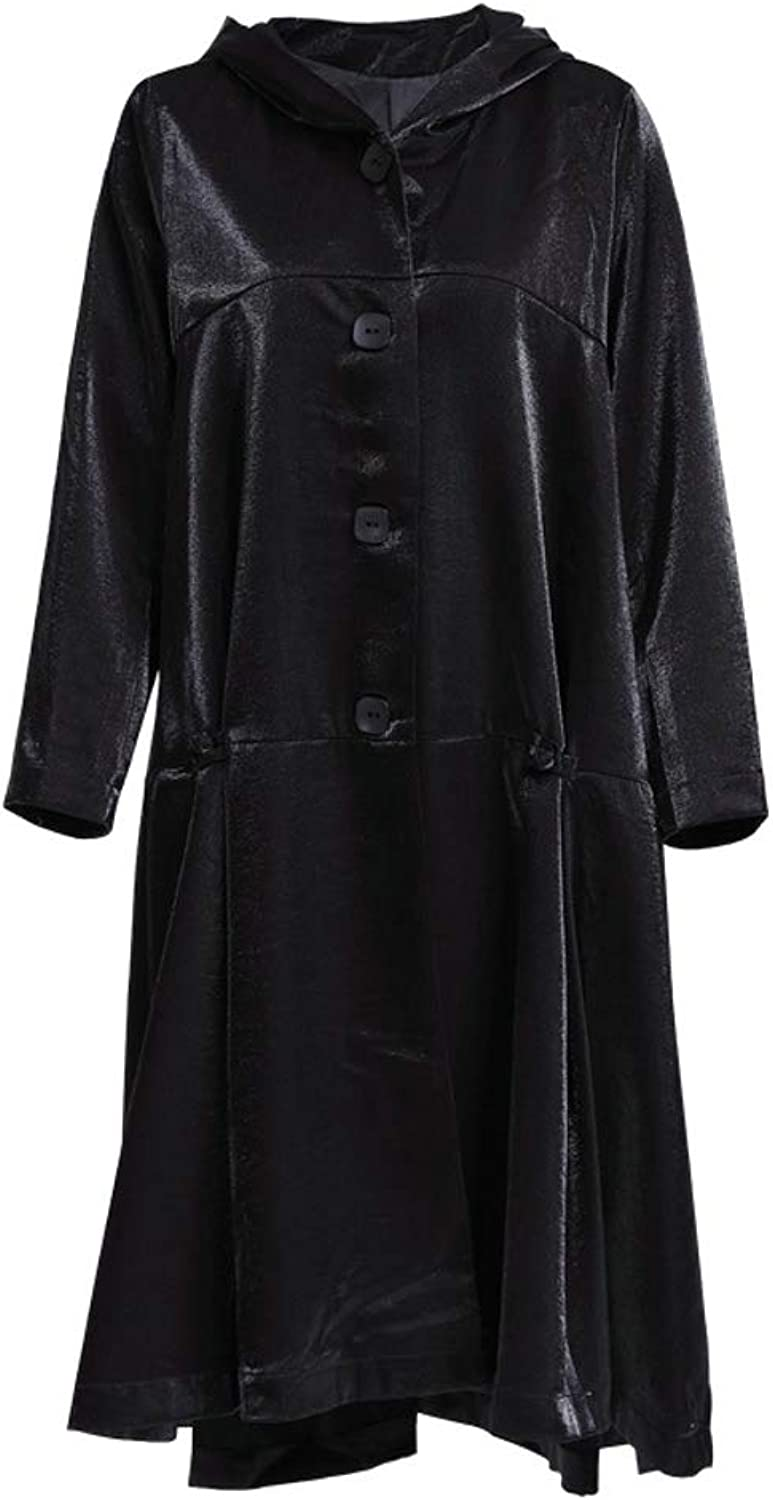 LHHJ Coat Polyester Black Casual Long Sleeve Hooded Jacket