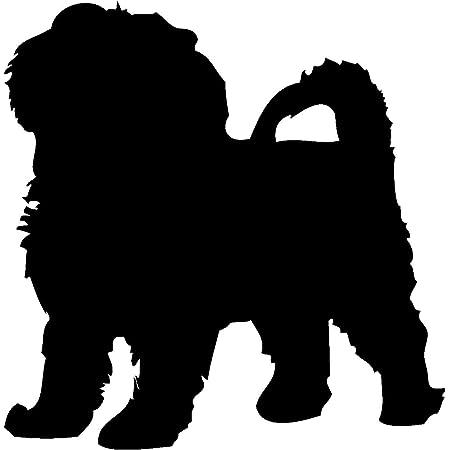 Samunshi Bolonka Zwetna Hunde Aufkleber Autoaufkleber Sticker In 6 Größen Und 25 Farben 9 8x10cm Schwarz Küche Haushalt