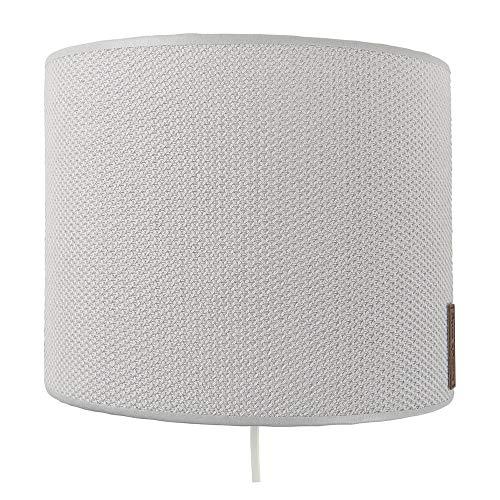 BO Baby's Only - Wandlampe für Babyzimmer aus Baumwolle - 25x10x20 cm - für Jungen und Mädchen - Silbergrau