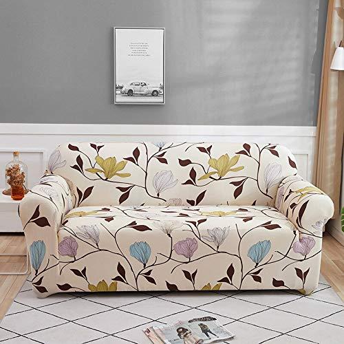 WXQY Funda de sofá elástica con Estampado Floral, Funda de sofá Modular para Sala de Estar, Funda de sofá retráctil Funda de sillón Modular A8 1 Plaza