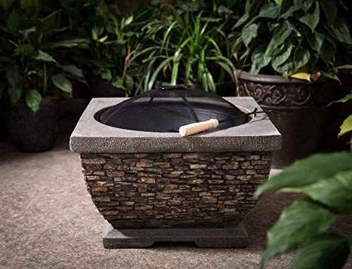 Callow Retail Premium Wood Burning Stone Fire Pit and Patio Heater