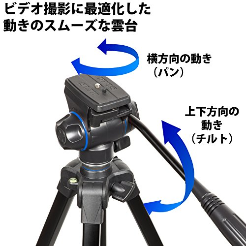 SLIK三脚GX6400VIDEO4段レバーロック21mmパイプ径ビデオ雲台クイックシュー式216934