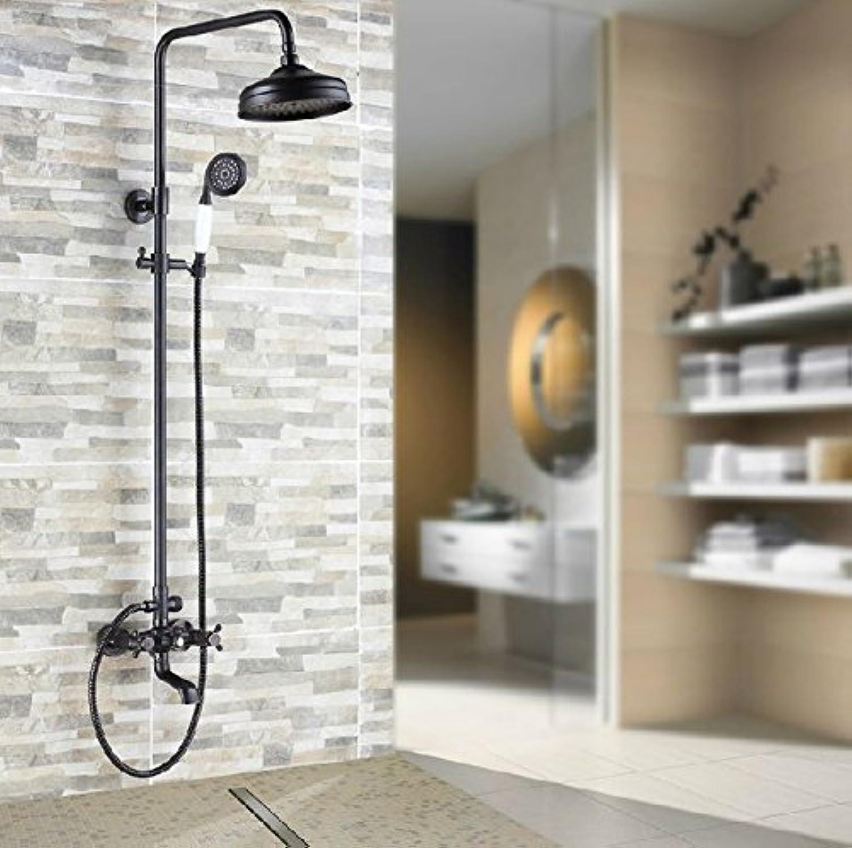 NEUE l eingerieben Bronze Wandmontage Badezimmer Dusche Wasserhahn Set Badewanne Mischbatterie