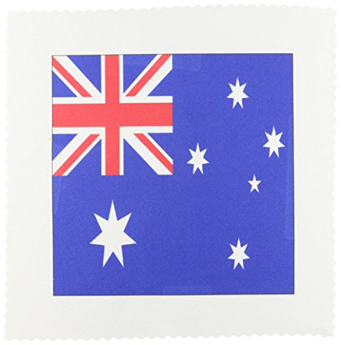 3dRose qs_4559_1 Steppdecke mit australischer Flagge, quadratisch, 25,4 x 25,4 cm